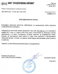 ООО «СПЕЦТЕХНИКА-СЕРВИС»